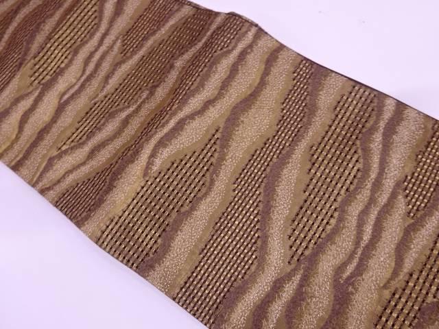 【IDN】 抽象模様刺繍袋帯【リサイクル】【中古】【着】