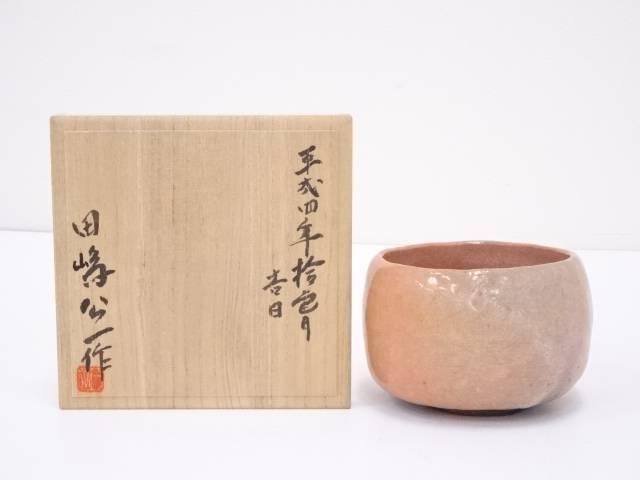 【IDN】 田嶋公一造 赤楽茶碗【中古】【道】