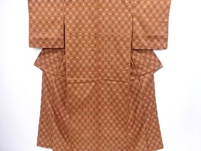 【IDN】 本場琉球絣手織り真綿紬着物【リサイクル】【中古】【着】