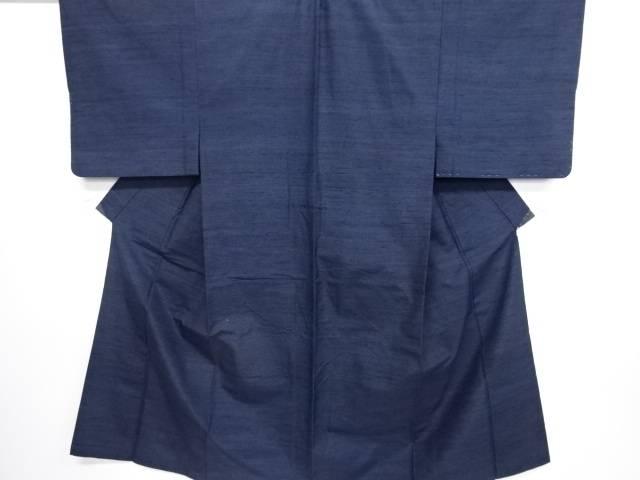 【IDN】 織柄手織り真綿紬男物着物アンサンブル【リサイクル】【中古】【着】