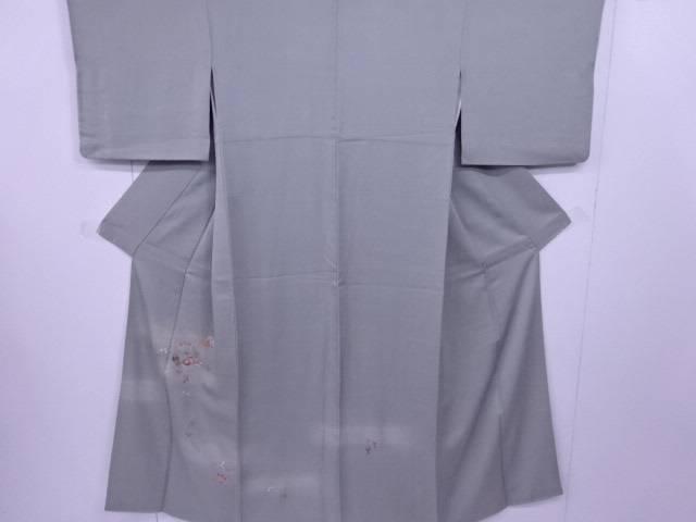【IDN】 付下げ 刺繍 橘に菊梅萩文様 着物【リサイクル】【中古】【着】