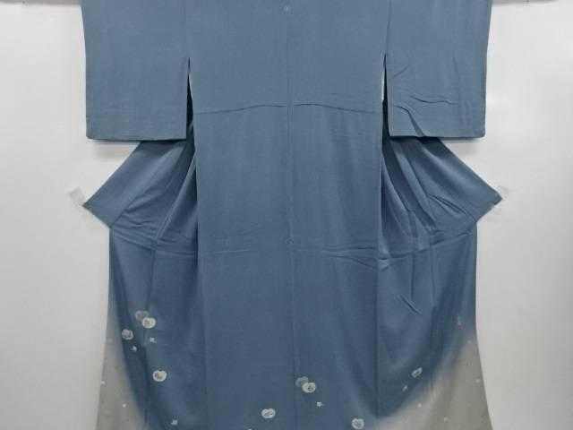 【IDN】 松尾光琳作 プラチナ箔「茶器の舞」刺繍一つ紋色留袖・長襦袢セット【リサイクル】【中古】【着】