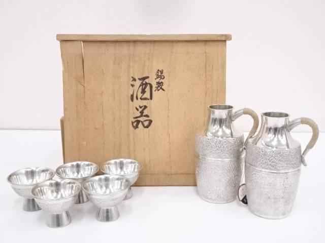 【IDN】 錫半造 錫製酒器セット(510g)【中古】【道】