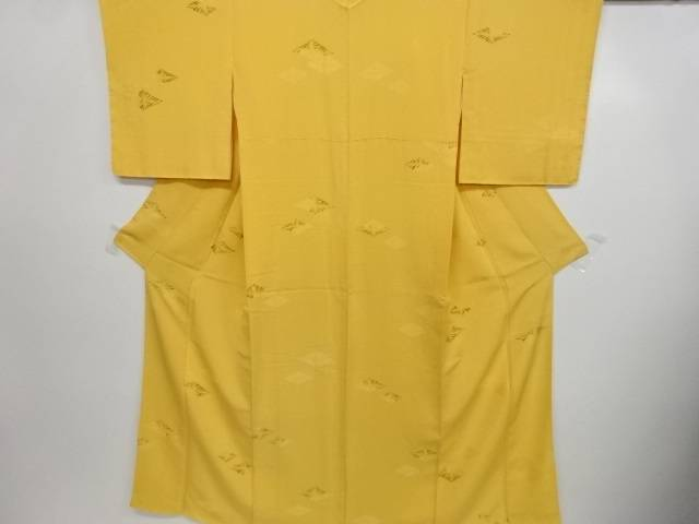 【IDN】 花菱模様織り出し小紋着物【リサイクル】【中古】【着】