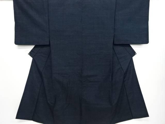 【IDN】 手織り真綿髭紬男物着物アンサンブル(キングサイズ)【リサイクル】【中古】【着】