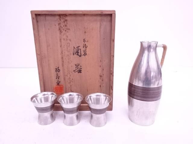 【IDN】 福寿堂製 本錫酒器揃【中古】【道】
