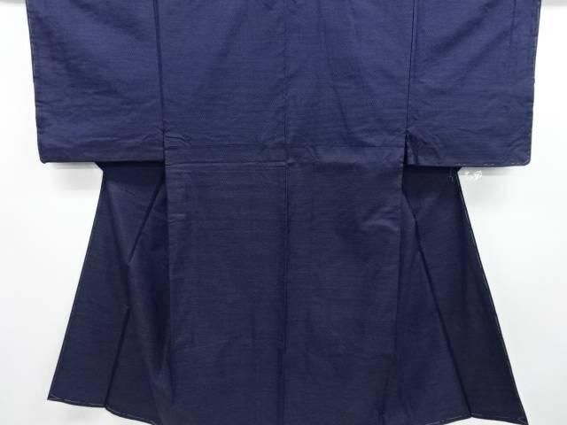 【IDN】 未使用品 横段織り出し本場泥大島紬男物着物アンサンブル 長襦袢セット【リサイクル】【着】