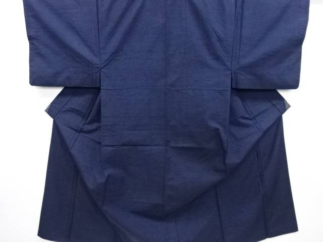 【IDN】 手織り真綿紬男物着物アンサンブル長襦袢セット(キングサイズ)【リサイクル】【中古】【着】