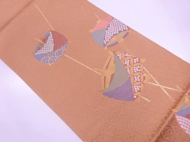 【IDN】 唐織糸巻き模様織出し袋帯【リサイクル】【中古】【着】