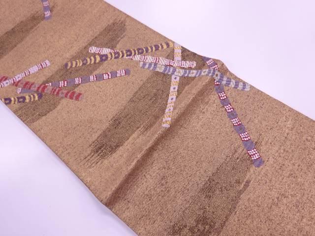【IDN】 霞に笛模様織出し袋帯【リサイクル】【中古】【着】