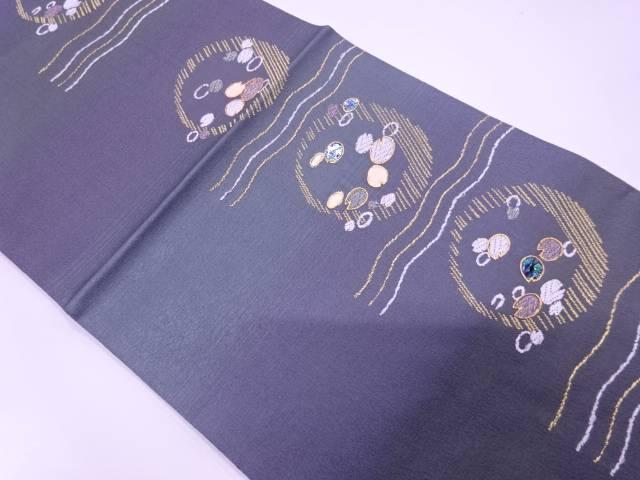 【IDN】 未使用品 金彩螺鈿抽象模様織出し袋帯【リサイクル】【着】