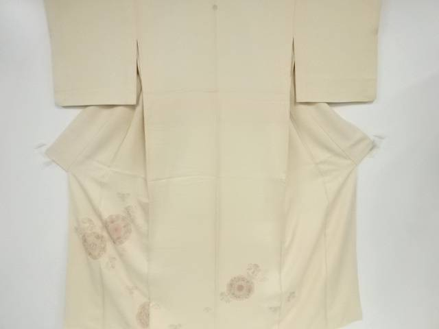 【IDN】 蘇州刺繍鏡裏に花更紗模様一つ紋付下げ訪問着【リサイクル】【中古】【着】