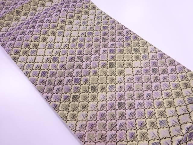【IDN】 未使用品 志織製 抽象模様織出し袋帯(未仕立て)【リサイクル】【着】
