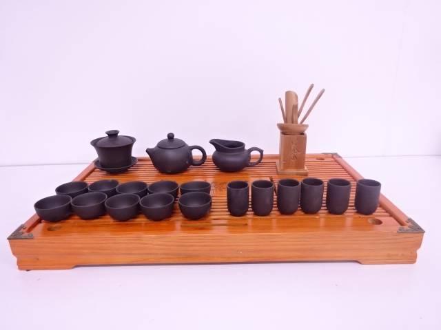 【IDN】 中国宜興製 紫砂清香茶器揃【中古】【道】