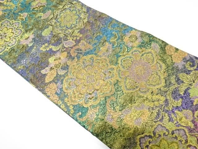 【IDN】 未使用品 本金華紋に花唐草模様織り出し袋帯【リサイクル】【着】