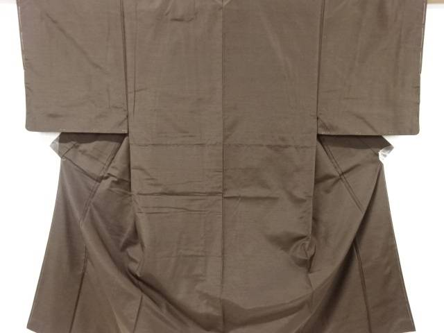 【IDN】 手織りひげ紬男物着物アンサンブル【リサイクル】【中古】【着】