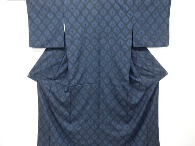 【IDN】 絞り菱模様手織紬着物【リサイクル】【中古】【着】