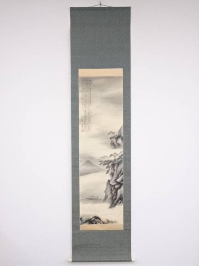 【IDN】 中国画 天城山人筆 山水図 肉筆絹本双幅掛軸【中古】【道】