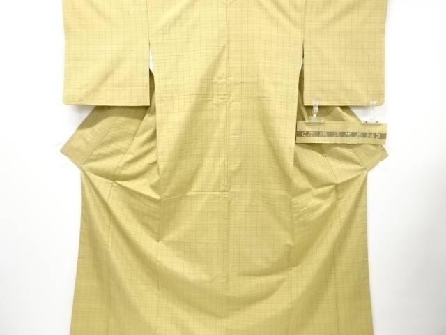 【IDN】 本場久米島紬格子織り出し着物【リサイクル】【中古】【着】