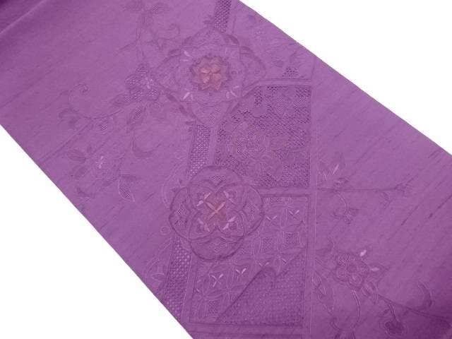 【IDN】 未使用品 手織り紬汕頭相良蘇州刺繍袋帯【リサイクル】【着】