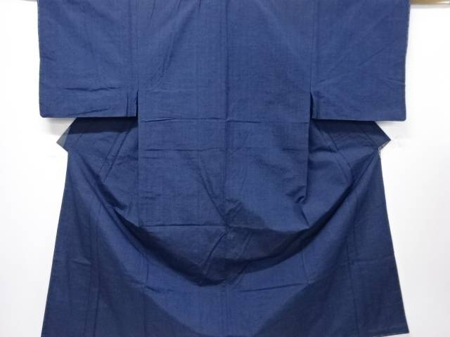 【IDN】 未使用品 縞織り出し手織り紬男物着物アンサンブル【リサイクル】【着】