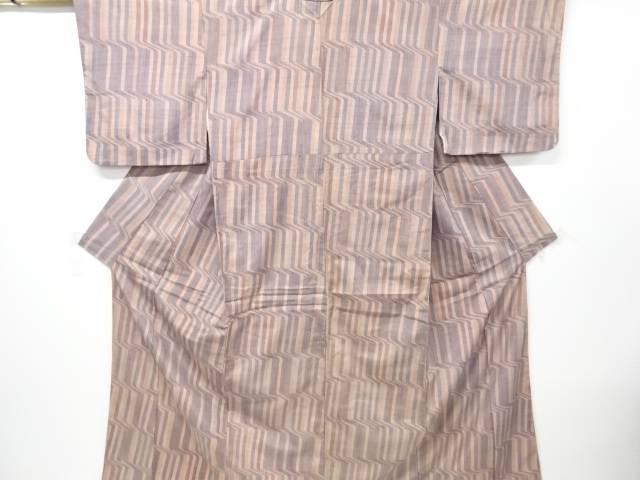 【IDN】 幾何学模様手織り節紬着物【リサイクル】【中古】【着】