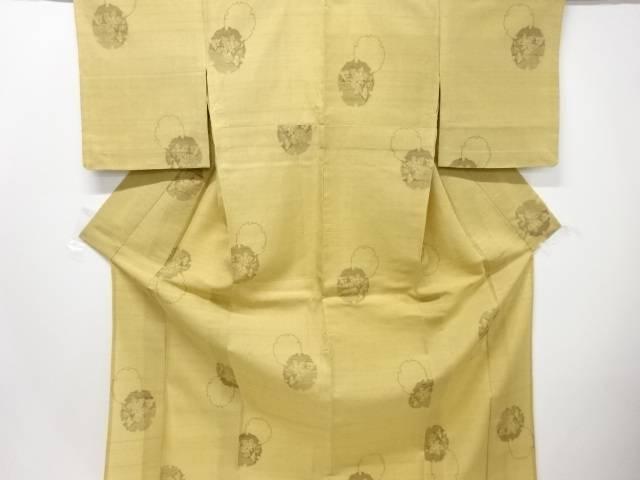 【IDN】 紗紬雪輪に花模様織り出し着物【リサイクル】【中古】【着】