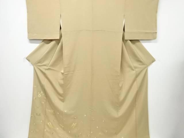 【IDN】 「雪月花」に宝尽くし刺繍一つ紋色留袖(比翼付き)【リサイクル】【中古】【着】