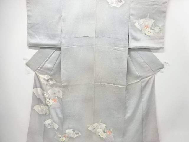 【IDN】 地紙に花模様暈し訪問着【リサイクル】【中古】【着】