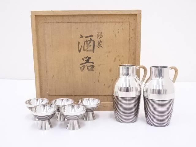 【IDN】 錫半造 錫酒器セット(477g)【中古】【道】