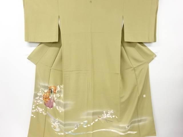 【IDN】 金彩手描き友禅役者に枝花模様一つ紋色留袖【リサイクル】【中古】【着】