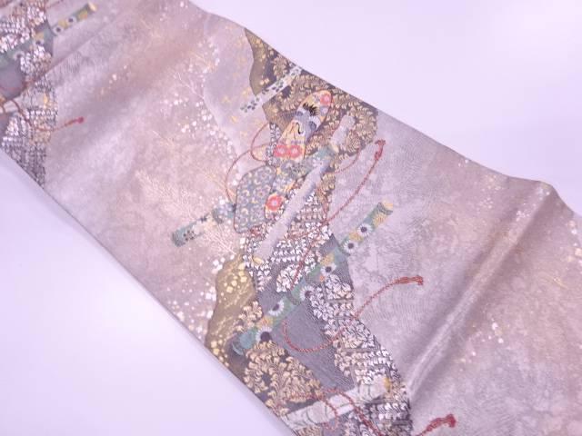 【IDN】 未使用品 舞楽吉祥の森文織出し袋帯【リサイクル】【着】