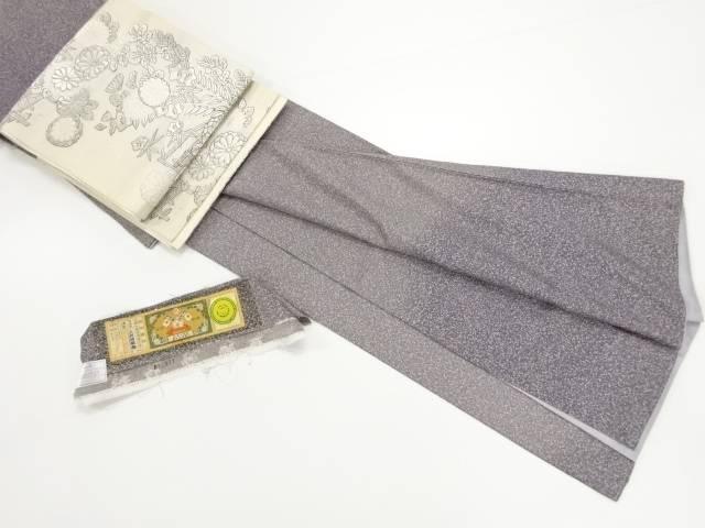 【IDN】 未使用品 仕立て上がり のり散らし模様暈し本場大島紬訪問着 袋帯セット【着】