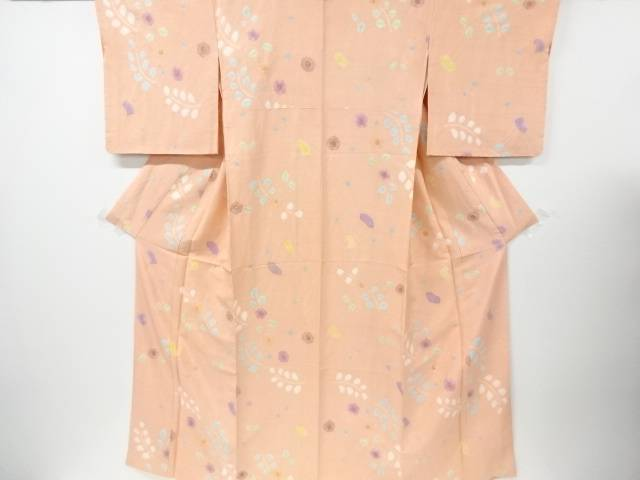 【IDN】 絞り梅模様手織り節紬着物【リサイクル】【中古】【着】