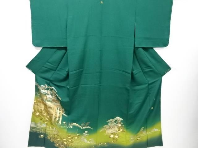 【IDN】 未使用品 仕立て上がり 作家物 箔置御所模様一つ紋色留袖【着】