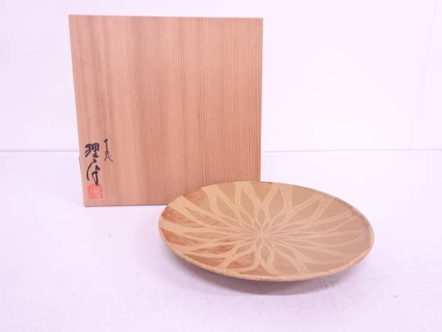 【IDN】 理平焼 十三代紀太理平造 菓子皿【中古】【道】