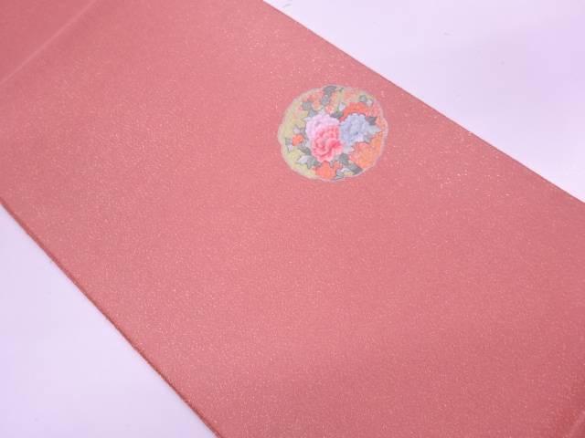 【IDN】 未使用品 蘇州刺繍草花模様袋帯(未仕立て)【リサイクル】【着】