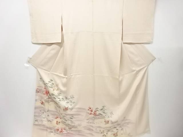 【IDN】 未使用品 屋敷に松竹梅・花模様刺繍一つ紋色留袖【リサイクル】【着】