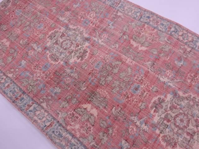 【IDN】 未使用品 手織り真綿紬華紋に草花模様織出し袋帯【リサイクル】【着】