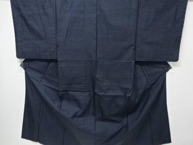 【IDN】 未使用品 亀甲絣柄織り出し男物着物アンサンブル【リサイクル】【着】