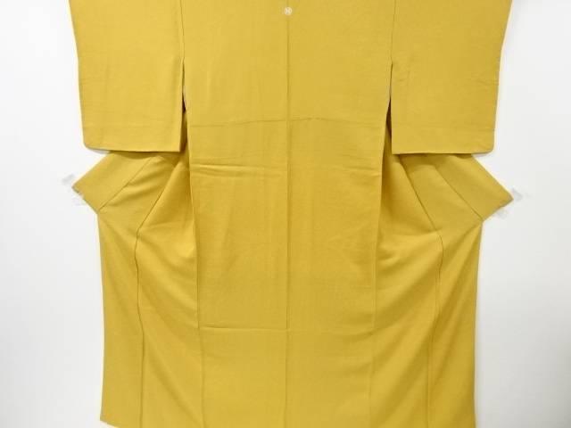 【IDN】 織り柄一つ紋色無地着物【リサイクル】【中古】【着】