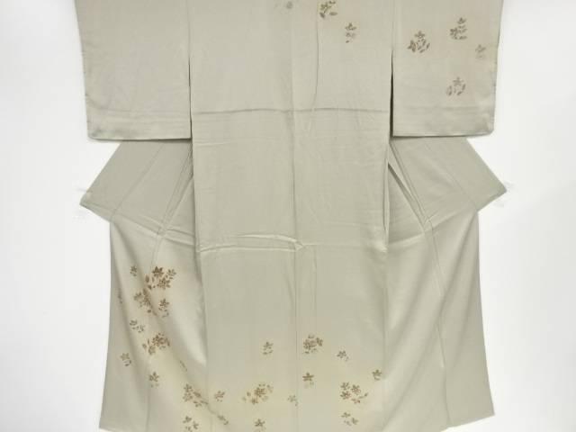 【IDN】 金彩手描き枝花模様一つ紋訪問着(重ね衿付き)【リサイクル】【中古】【着】