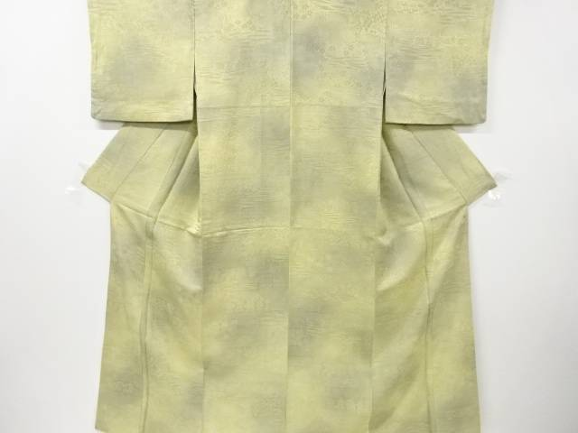 【IDN】 石畳に草花模様織り出し小紋着物【リサイクル】【中古】【着】