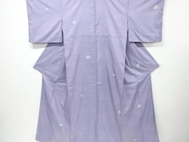【IDN】 絞り椿模様暈し手織り経節紬着物【リサイクル】【中古】【着】