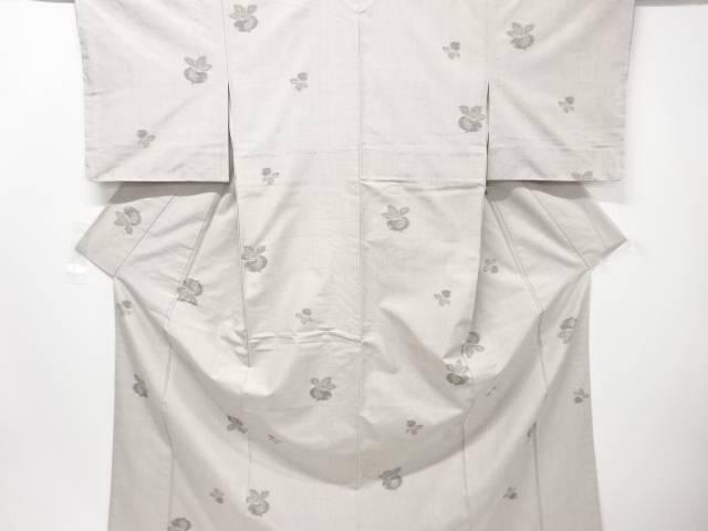 【IDN】 未使用品 仕立て上がり 蕪模様織り出し手織り真綿紬着物【着】
