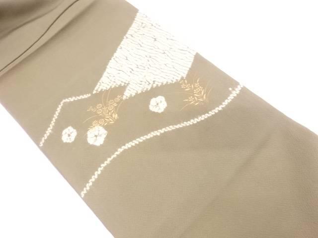 【IDN】 絞り花に抽象模様袋帯【リサイクル】【中古】【着】
