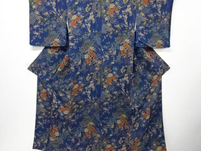 【IDN】 未使用品 仕立て上がり 草花模様小紋着物【着】