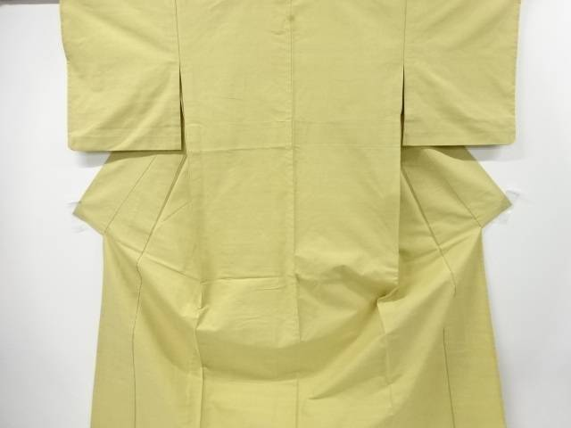 【IDN】 一つ紋手織り真綿紬単衣着物【リサイクル】【中古】【着】