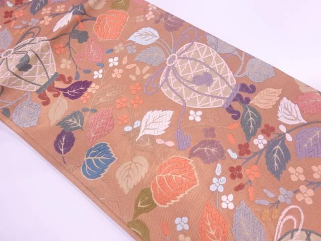 壁画模様織出し袋帯 【リサイクル】 【中古】