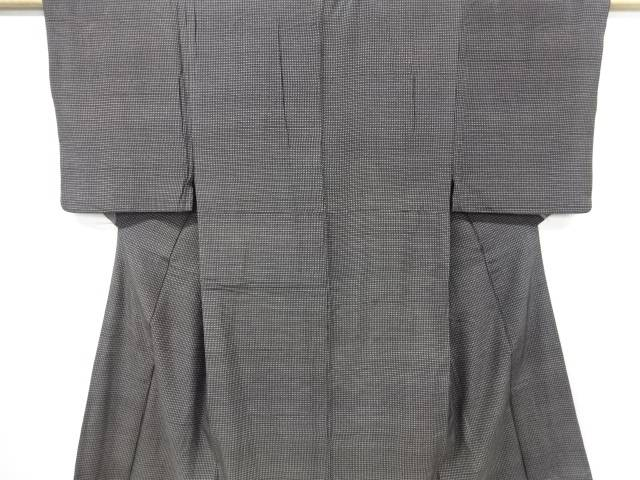 【IDN】 絣柄手織り紬男物着物アンサンブル【リサイクル】【中古】【着】